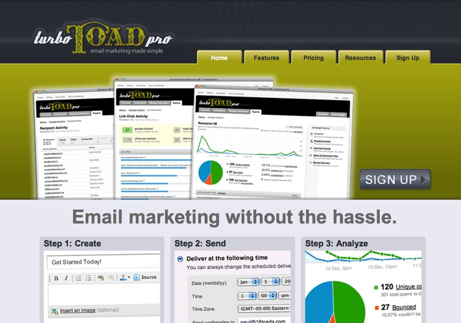 A great web design by 16toads Design, Atlanta, GA: