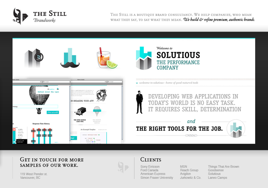 A great web design by The Still Brandworks, Vancouver, Canada: