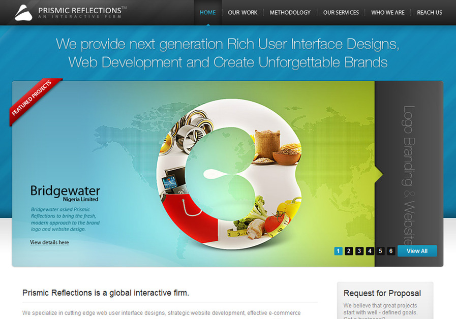 A great web design by Prismic Reflections - an interactive firm, Mumbai, India: