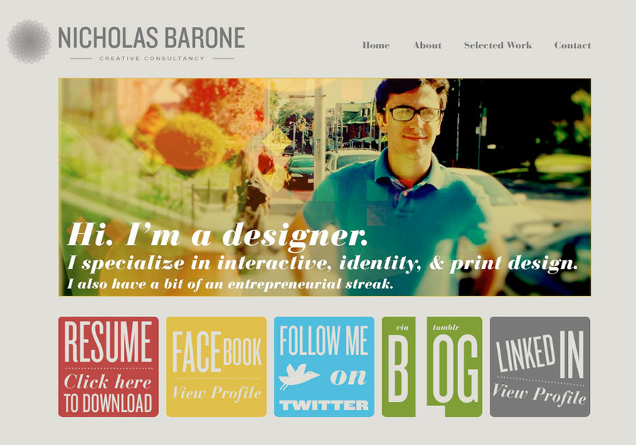 A great web design by NicholasBarone.com, Buffalo, NY: