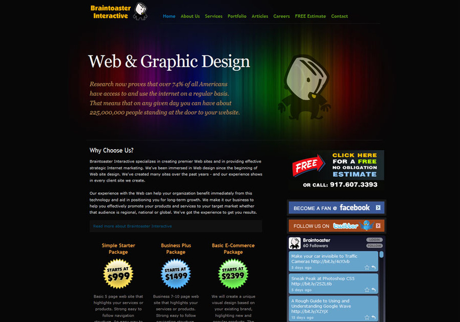A great web design by Braintoaster Interactive, Boca Raton, FL: