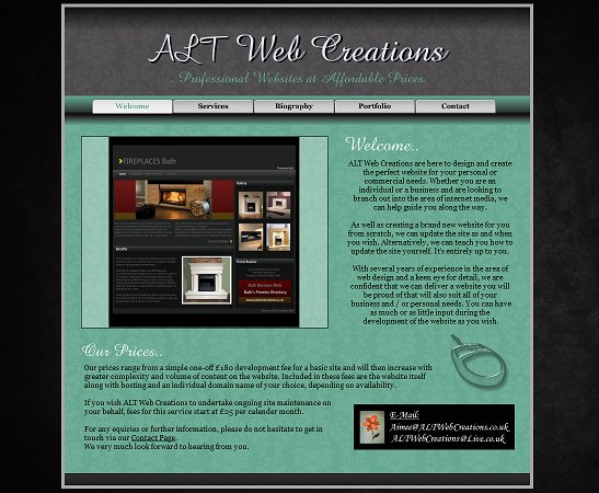 A great web design by ALT Web Creations, Bath, United Kingdom: