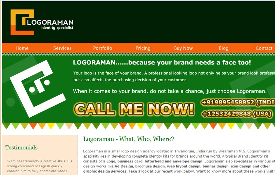 A great web design by Logoraman, Mumbai, India: