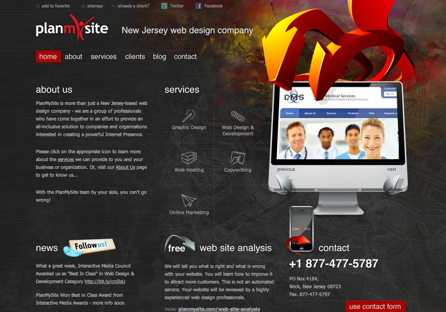 A great web design by PlanMySite, Brick, NJ: