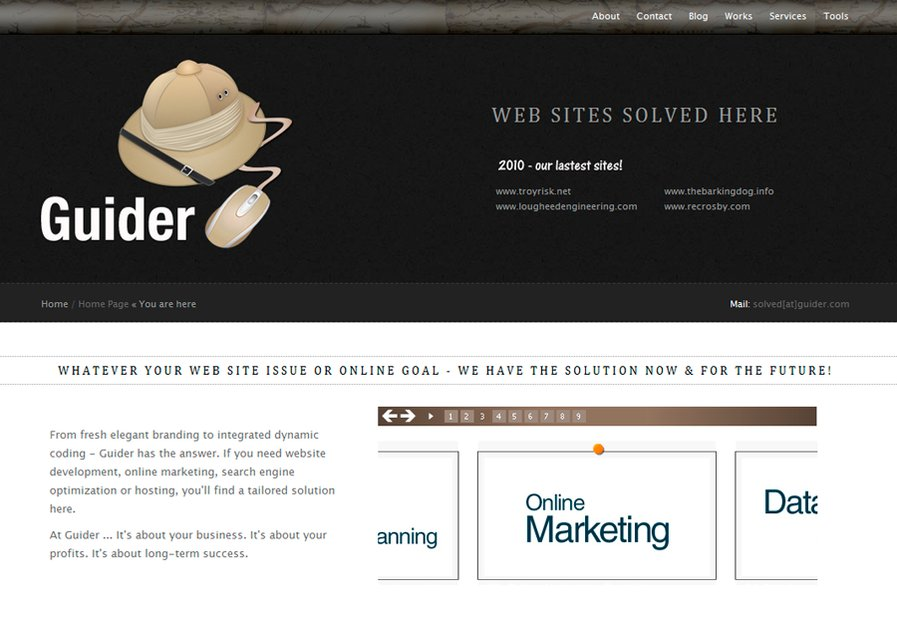 A great web design by Guider.com, Fort Wayne, IN: