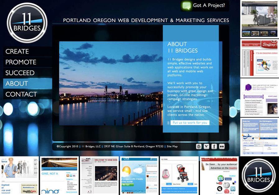 A great web design by 11 Bridges, Portland, OR: