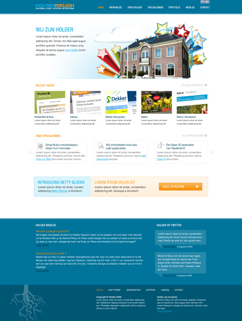 A great web design by Internetbureau Holder, Amsterdam, Netherlands: