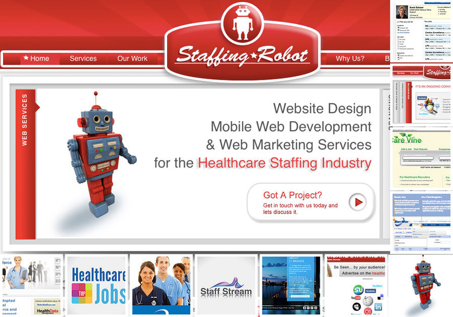 A great web design by Staffing Robot, Portland, OR: