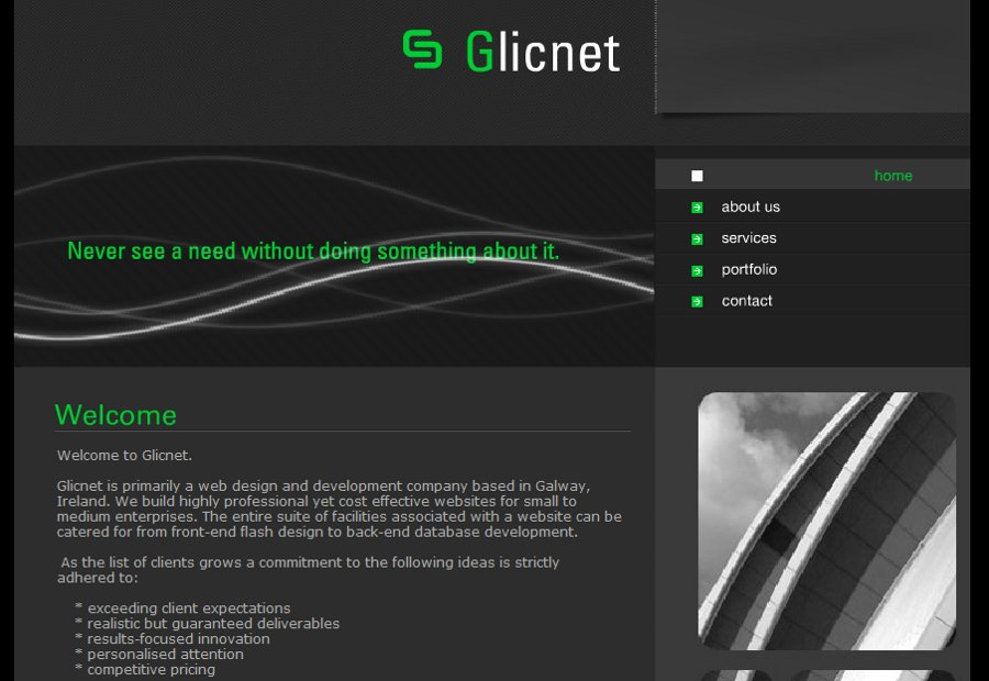A great web design by Glicnet.com, Carrick on Shannon, Ireland: