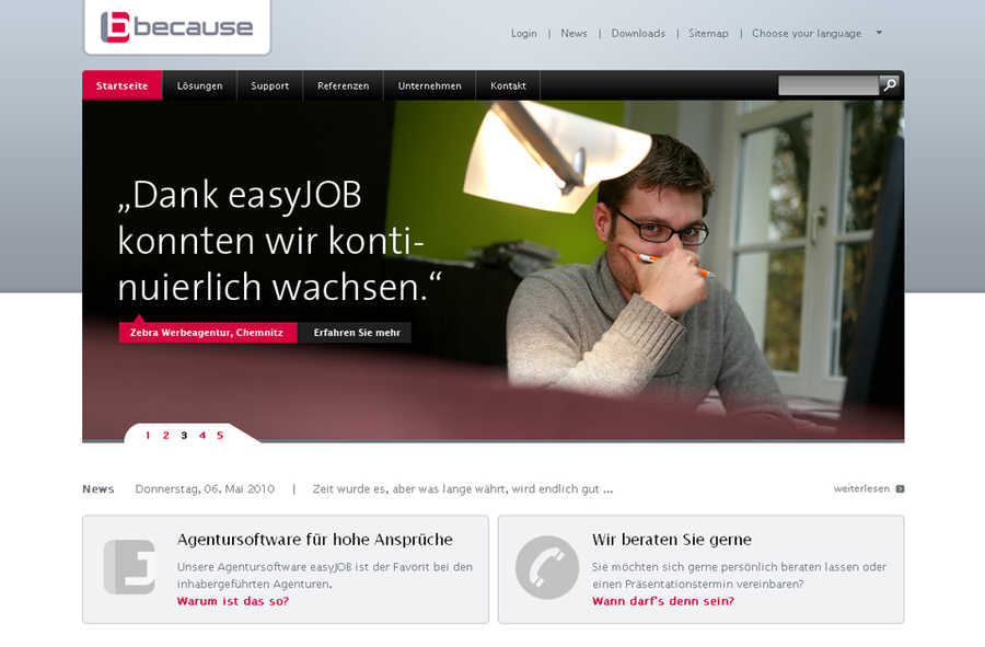 A great web design by VERDURE Medienteam, Stuttgart, Germany: