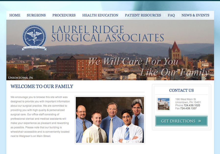 A great web design by FullPulp, Pittsburgh, PA: