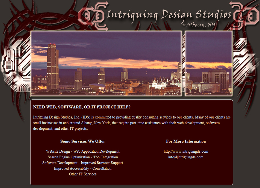 A great web design by Intriguing Design Studios, Inc., Albany, NY: