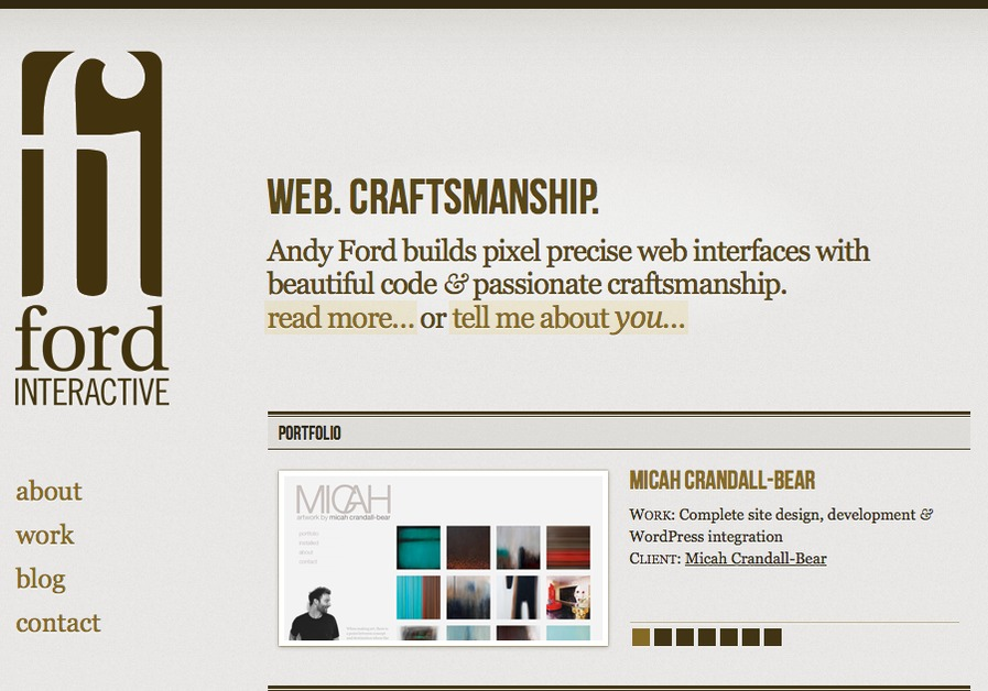 A great web design by Ford Interactive, Sacramento, CA: