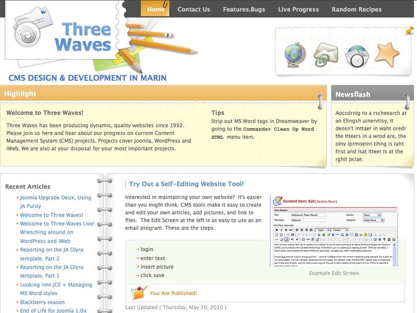 A great web design by Three Waves, San Francisco, CA: