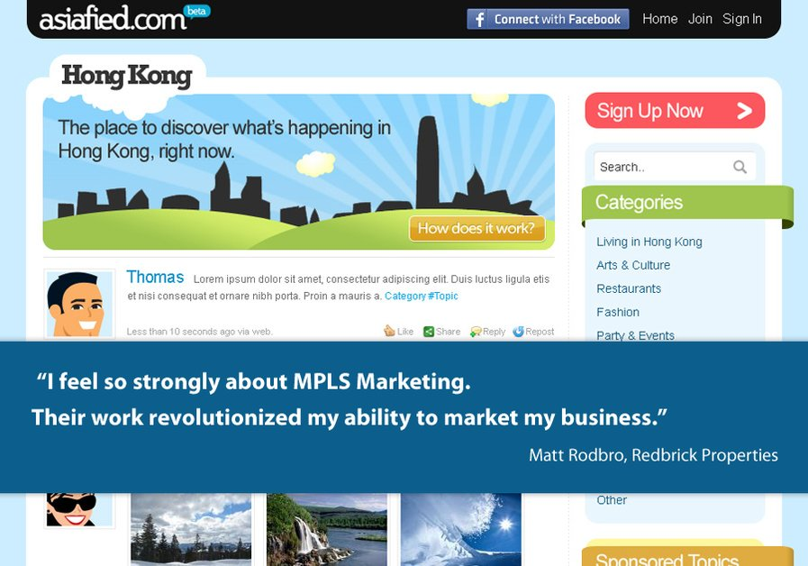A great web design by MPLS Marketing Orlando, Orlando, FL: