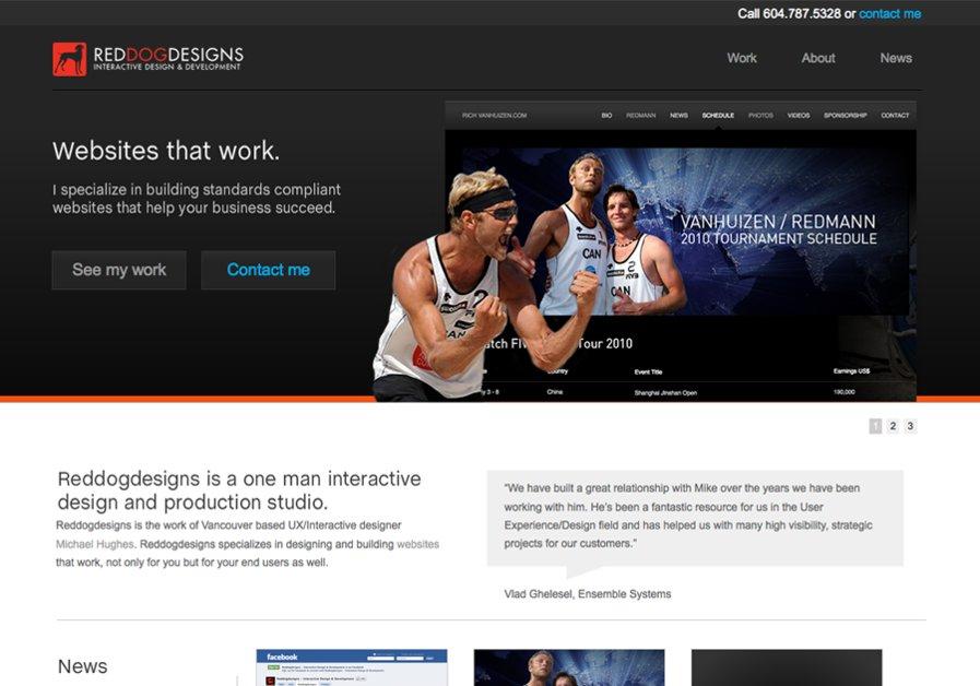 A great web design by Reddogdesigns, Vancouver, Canada: