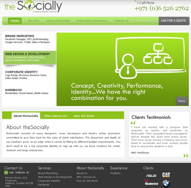 A great web design by theSocially, London, United Kingdom: