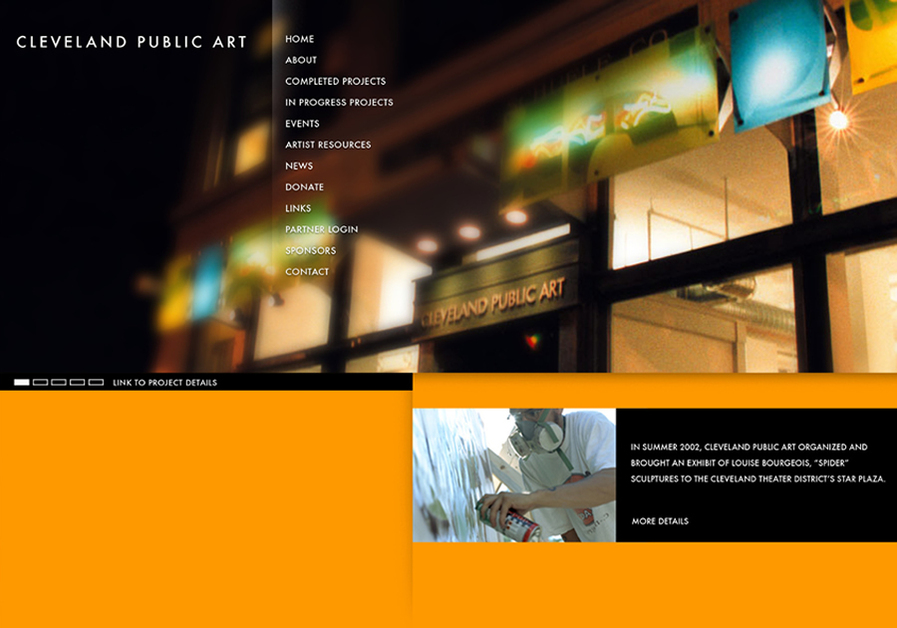 A great web design by FORM, Cleveland, OH: