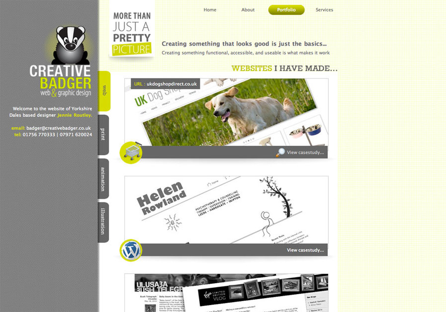 A great web design by Creative Badger, Yorkshire, United Kingdom: