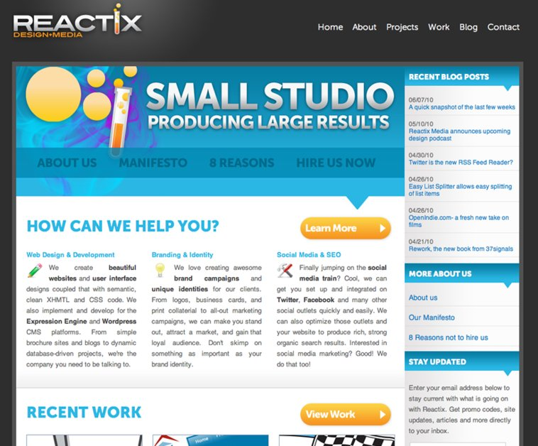 A great web design by Reactix Media, Greenville, SC: