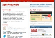 A great web design by Agile Productions, Bozeman, MT: