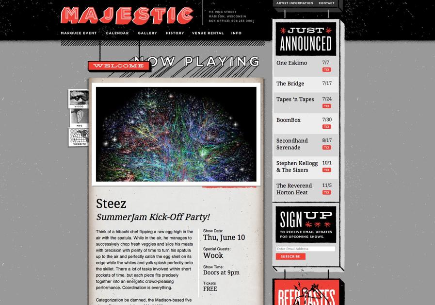 A great web design by Swink, Madison, WI: