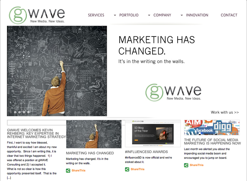 A great web design by gWAVE Consulting, San Diego, CA: