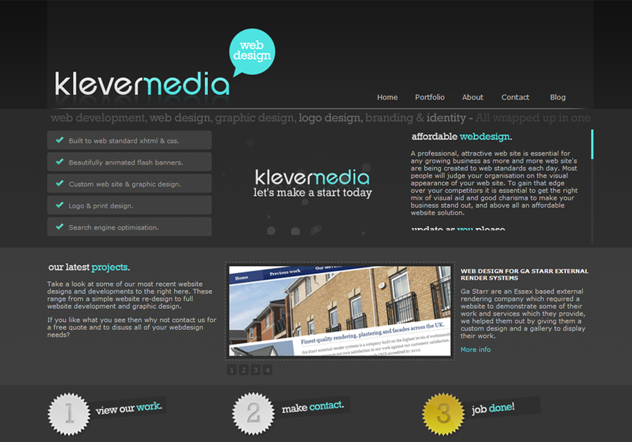 A great web design by We're Klever media, a small design company based in the south of the UK taking on all kinds of design work from little to large, we love what we do which makes us take pride in each and every piece of work we're involved in., London, United Kingdom: