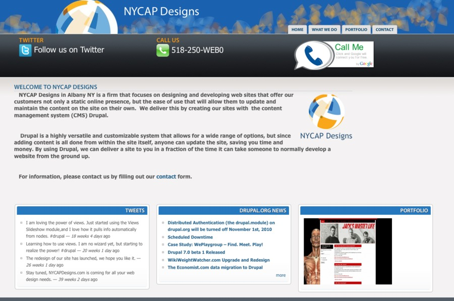 A great web design by NYCAP Designs, Albany, NY: