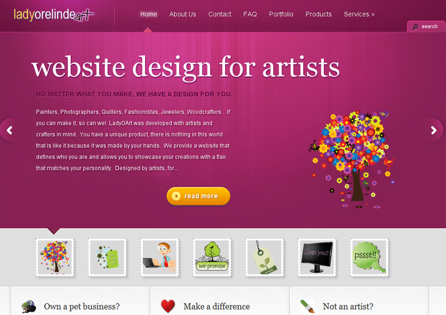 A great web design by LadyOart.com, Fort Myers, FL: