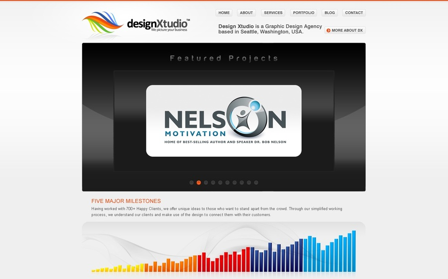 A great web design by designXtudio, Seattle, WA: