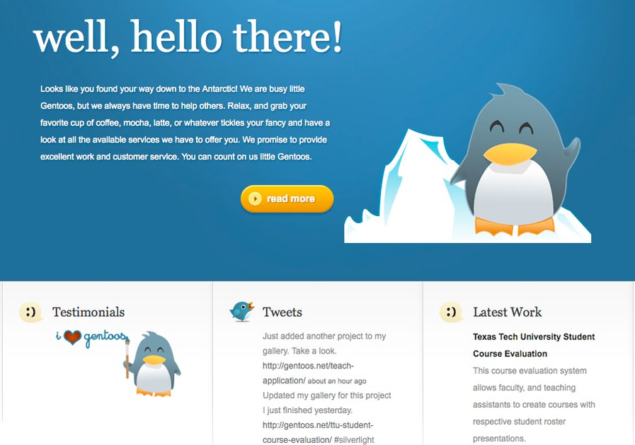 A great web design by Gentoos, Lubbock, TX: