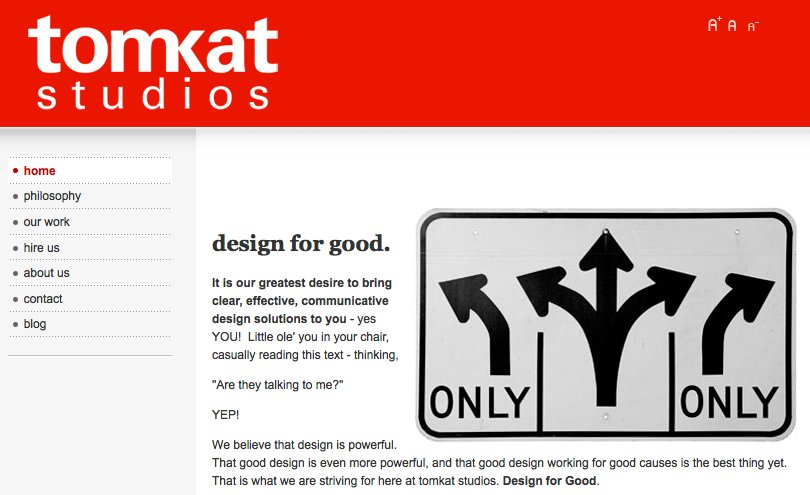 A great web design by tomkat studios, Tri Cities, TN: