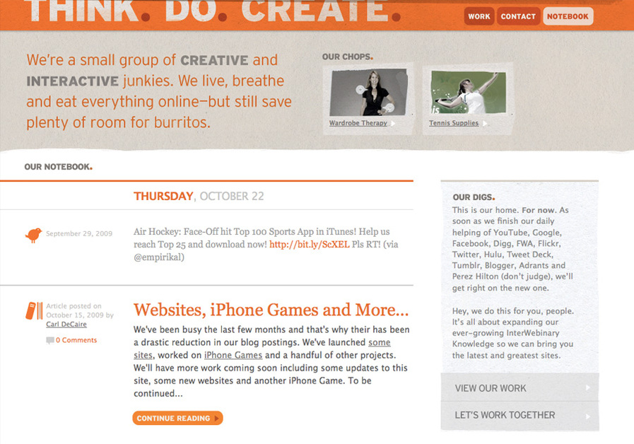 A great web design by Think.Do.Create., Columbus, OH:
