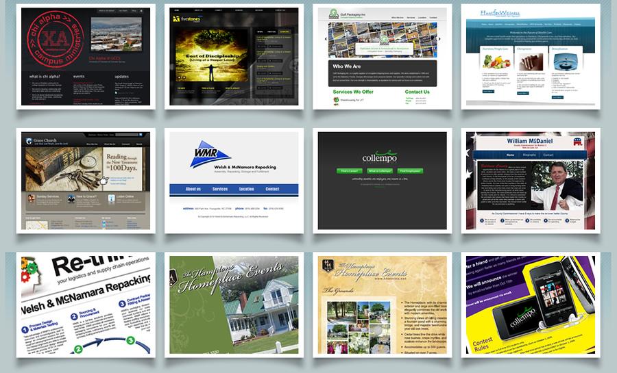A great web design by Robert Povelones Design, Raleigh, NC: