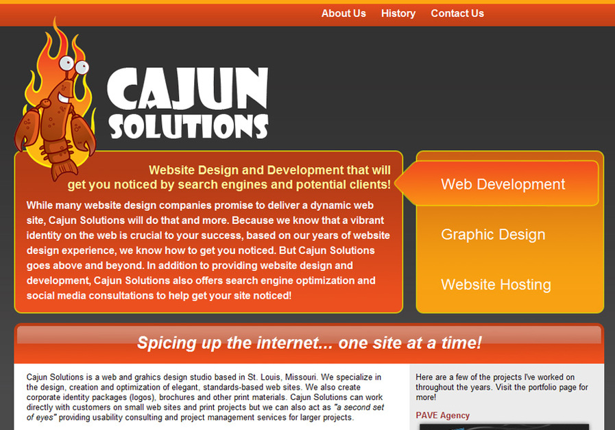 A great web design by Cajun Solutions, St Louis, MO:
