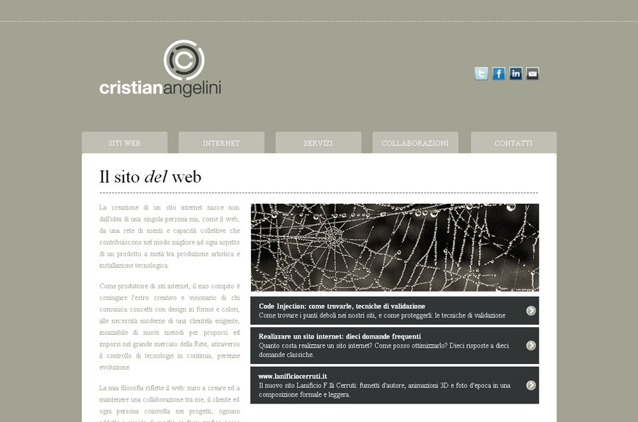 A great web design by Cristian Angelini, Biella, Italy: