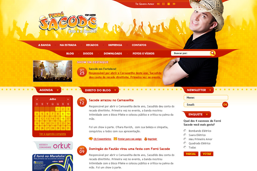A great web design by Charles Bamam, Natal, Brazil: