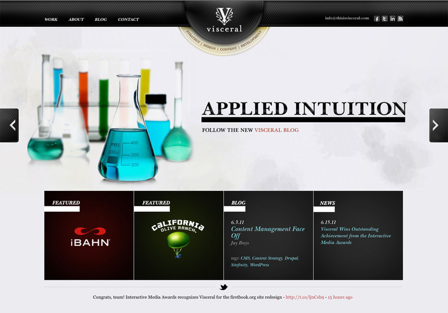 A great web design by Visceral, San Diego, CA: