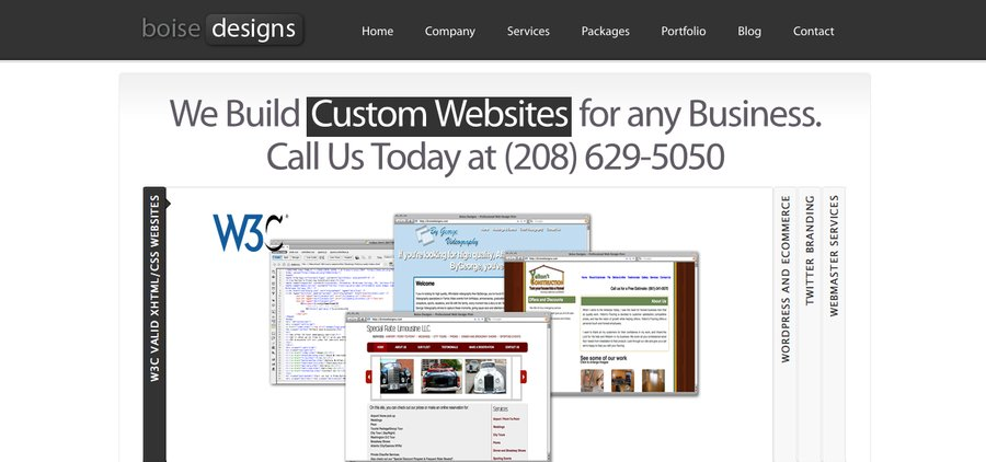 A great web design by Boise Designs, Boise, ID:
