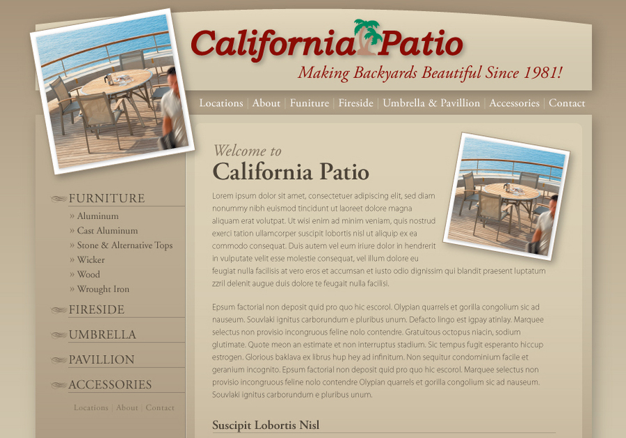A great web design by Kneadle, Orange County, CA:
