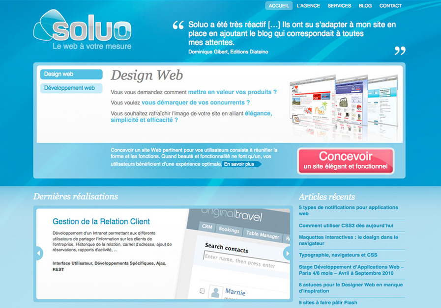 A great web design by Soluo, Paris, France:
