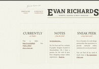 A great web design by Evan Richards, Hereford, United Kingdom: