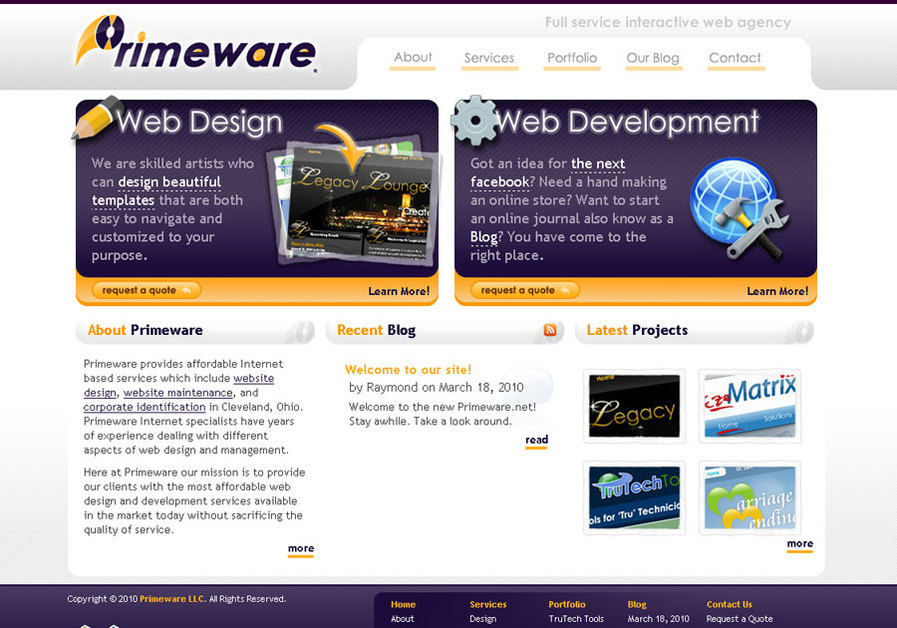 A great web design by Primeware, Cleveland, OH:
