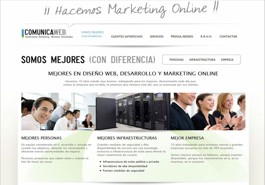 A great web design by Comunica-web, Sevilla, Spain: