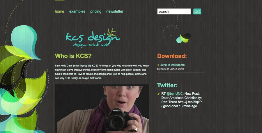 A great web design by kcs design, Wilmington, NC: