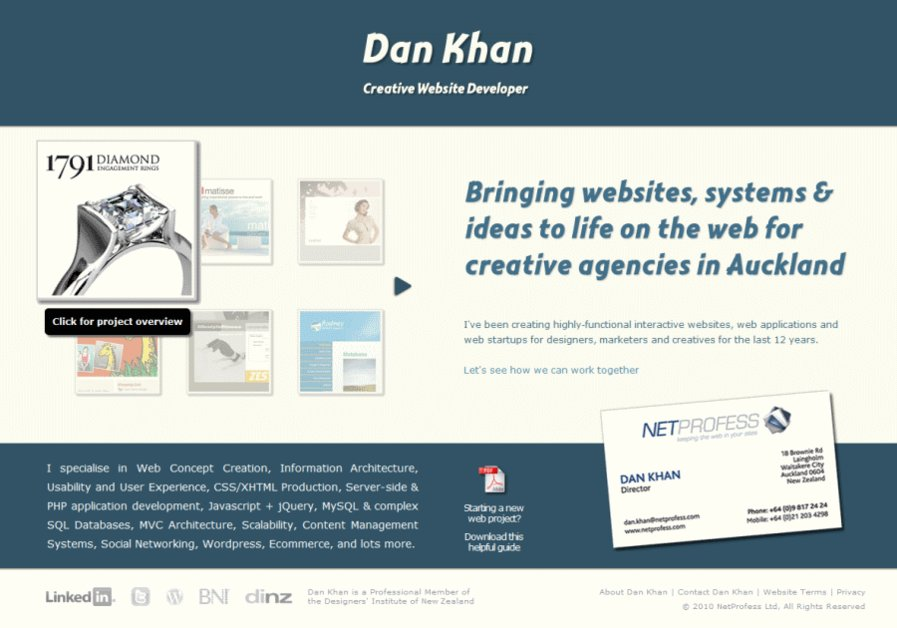 A great web design by Dan Khan - Digital Planner, Auckland, New Zealand: