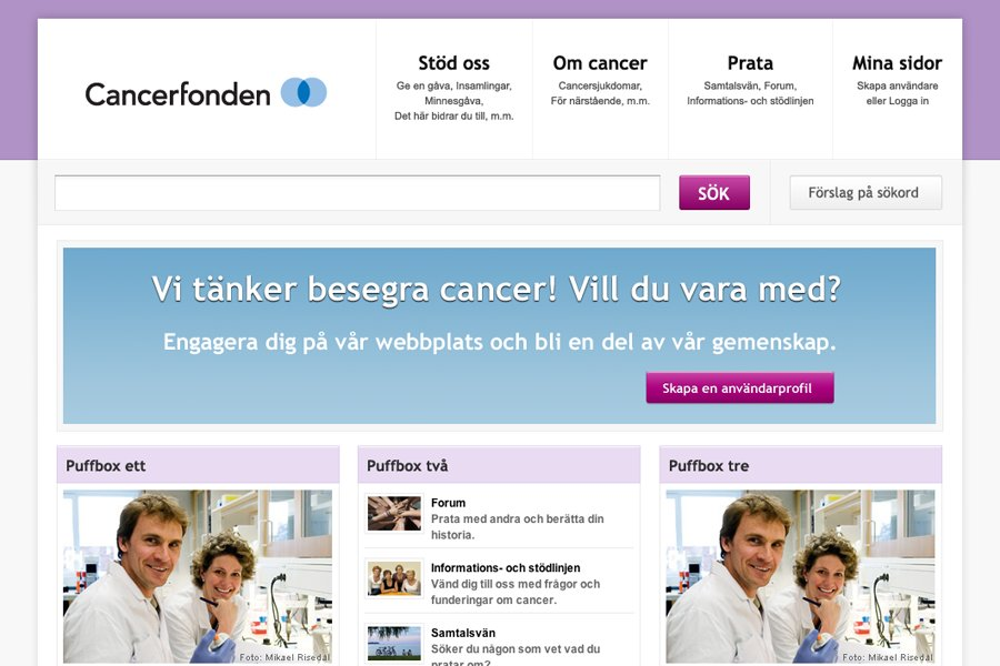 A great web design by Parsley, Falkenberg, Sweden: