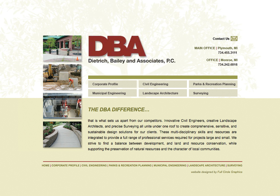 A great web design by full circle graphics, inc., Detroit, MI: