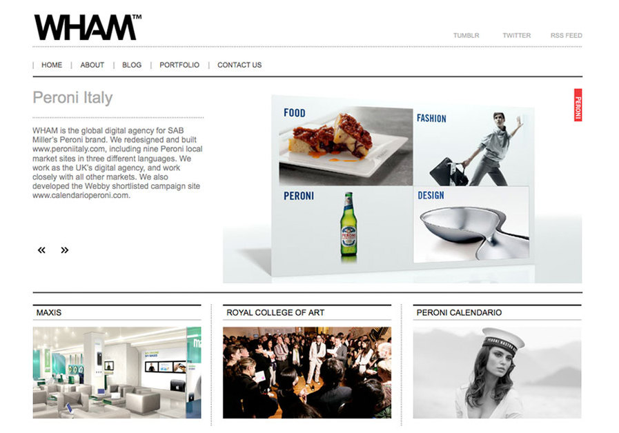 A great web design by The Wham Agency, London, United Kingdom: